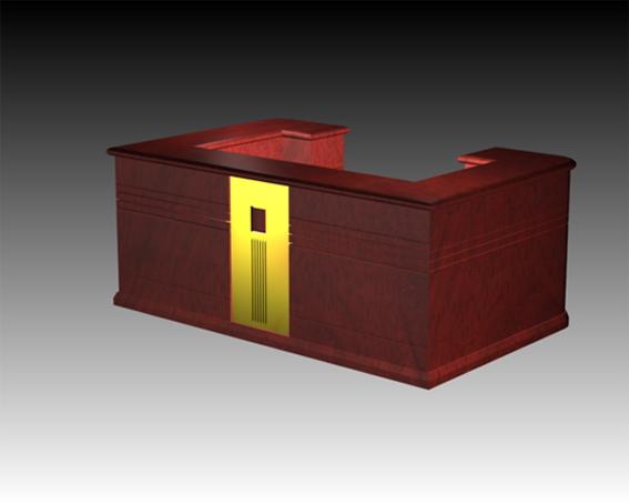 Traditional Redwood Reception Desk 3d Model 3dsmax Files