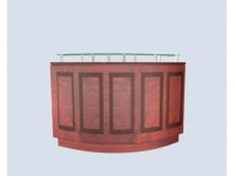Traditional reception counter 3d model