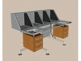 Modern metal reception desk 3d model