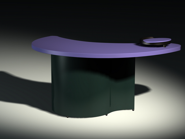 Crescent moon shape reception desk 3d model 3dsmax files for Wedding table design tool