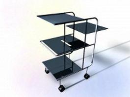 Mobile work table 3d model
