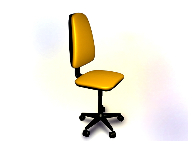 yellow office chair 3d model amazing yellow office chair