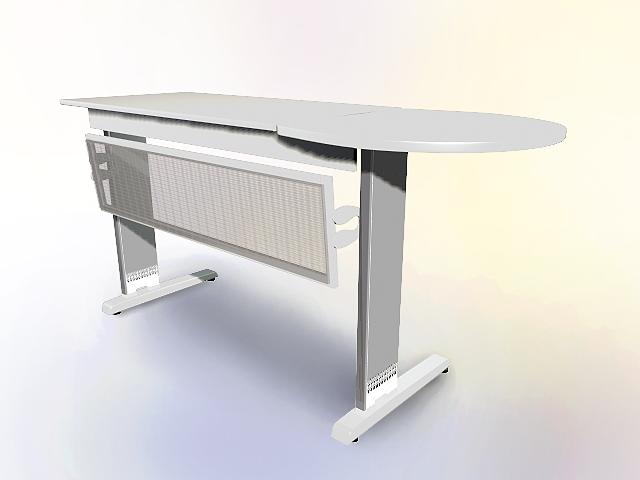 Remarkable White Office Workbench 3D Model Cadnav Evergreenethics Interior Chair Design Evergreenethicsorg