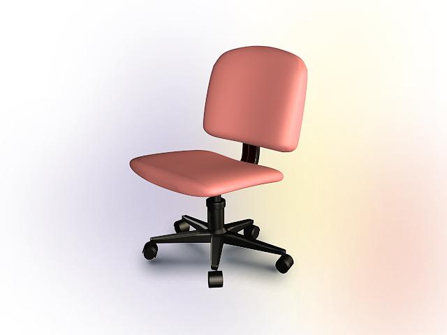 Office Pink Swivel Chair 3D Model