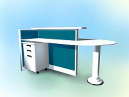 Modern workstation table 3d model