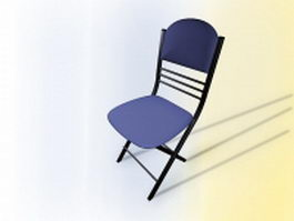 Blue conference chair 3d model