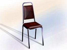 Red banquet chair 3d model