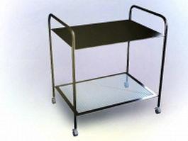 Rolling file cart 3d model