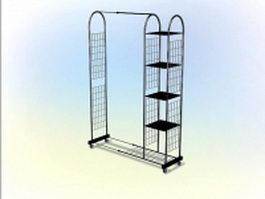 Metal magazine rack 3d model
