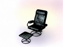 Executive chair with ottoman 3d model