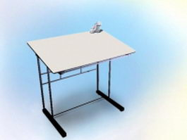 Contemporary drafting table 3d model