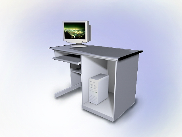 ikea white computer desk 3d model 3dsmax autocad files free download