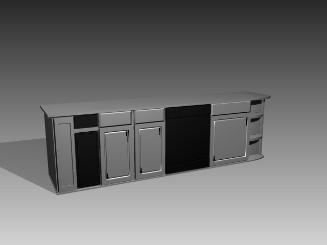 Modular Kitchen Cabinet 3d Model 3dsmax 3ds Autocad Files Free Download Modeling 17587 On Cadnav