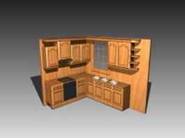 Small kitchen cabinet design 3d model