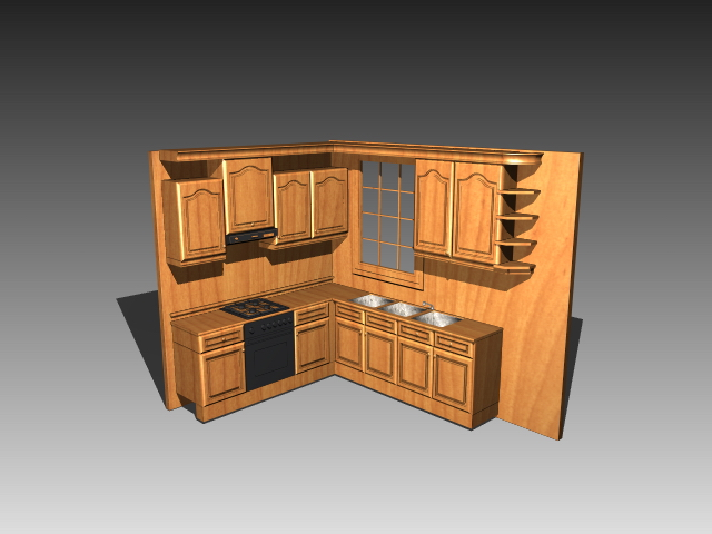Small Kitchen Cabinet Design 3d Model 3dsmax 3ds Autocad