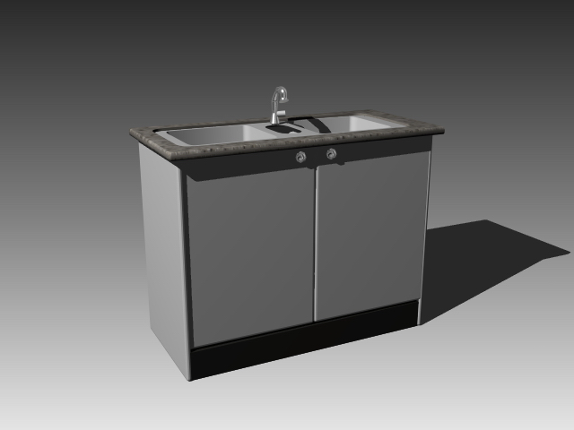 Kitchen sink cabinet design 3d model 3dsmax 3ds autocad for 3d drawing kitchen