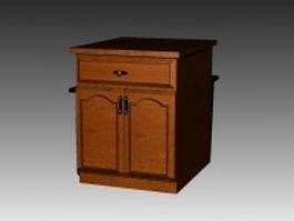 Free standing kitchen cupboard 3d model