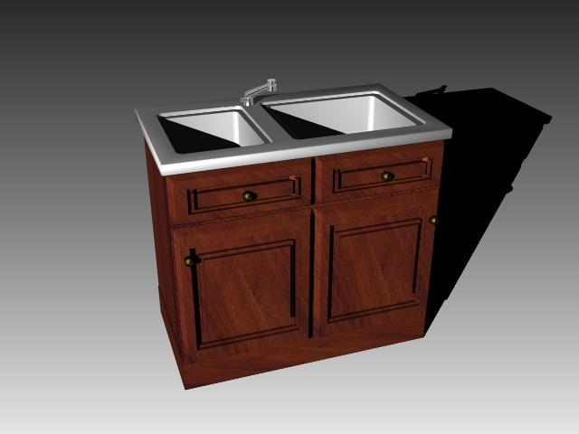 vintage kitchen sink cabinet. Perfect Sink Vintage Kitchen Sink Cabinet 3D Model On Kitchen Sink Cabinet T