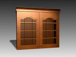 Classic kitchen wall cabinet 3d model