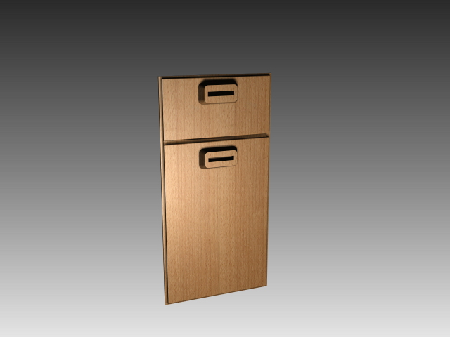 kitchen cabinet door with handles 3d model 3dsmax,3ds,autocad files