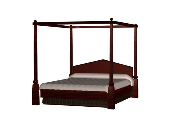 Modern Four Poster Bed 3d Model 3dsmax 3ds Files Free