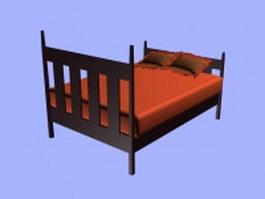 Mission platform bed 3d model