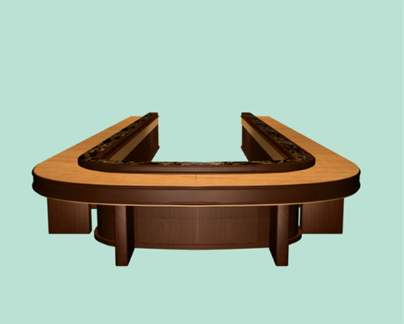Ushaped Conference Tables D Model DsMax Files Free Download - U shaped conference table designs