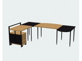 Modular office desk 3d model