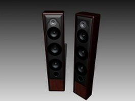 Five-way speaker system 3d model