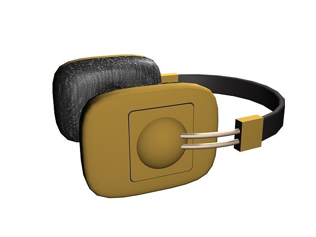 Cordless headphone 3d rendering