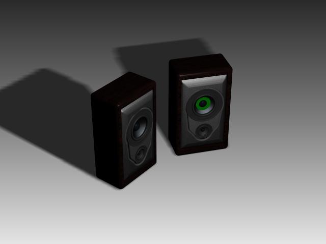 Desktop Speakers 3d Model 3dsmax 3ds Autocad Files Free