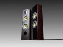 3 way speaker system 3d model