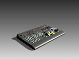 Professional audio mixing console 3d preview