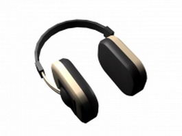 Modern headphone 3d model