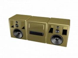 Desktop cassette recorder 3d model