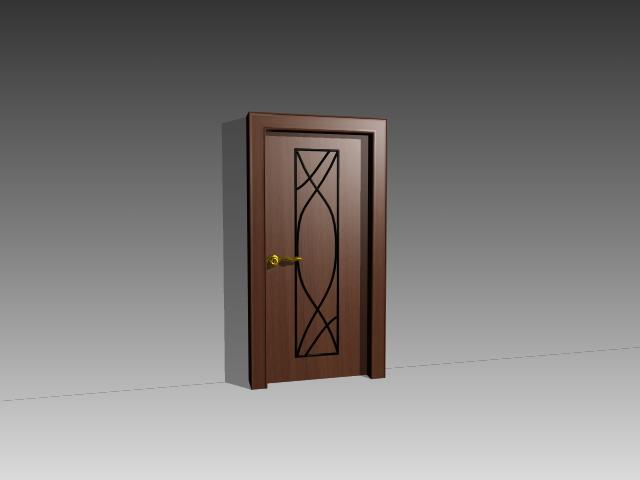 Wood office door 3d model 3dsmax 3ds autocad files free for Door 3d model