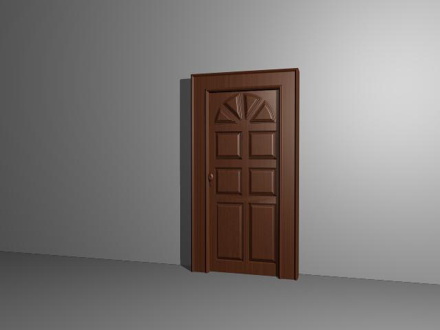 6 panel moulded door 3d model 3dsmax 3ds autocad files for Door 3d model