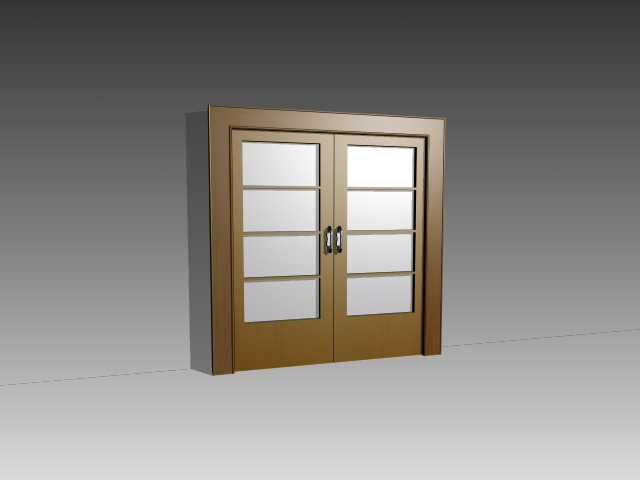 Internal Glazed Double Door 3d Model 3dsmax3dsautocad Files Free
