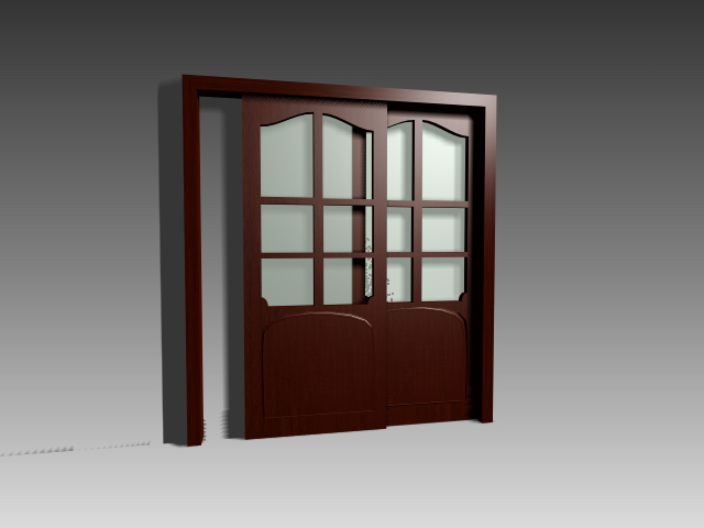 Sliding glass doors 3d model 3dsmax 3ds autocad files free for Sliding glass doors cad