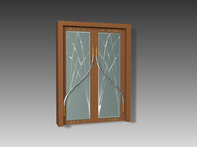 Art Glass Door 3d Model 3dsmax 3ds Autocad Files Free