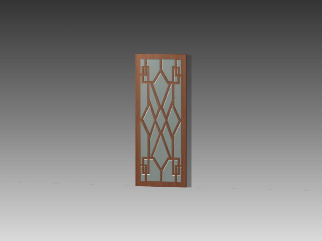 decorative glass door inserts 3d model 3dsmax 3ds autocad files free