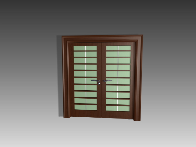 Grille Glass Doors 3d Model 3dsmax 3ds Autocad Files Free