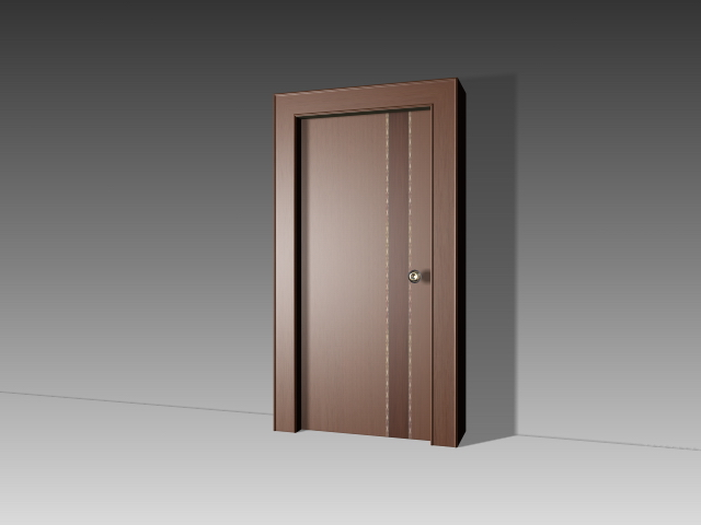 Plain flush door 3d model 3dsmax 3ds autocad files free for Porte 3d dwg