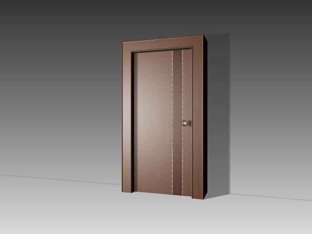 Plain flush door 3d model 3dsmax 3ds autocad files free for Door 3d model