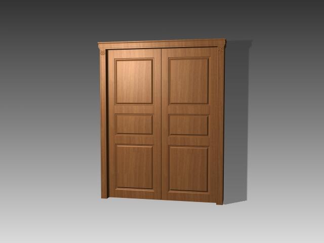 Double panel door 3d model 3dsmax 3ds autocad files free for Door 3d model