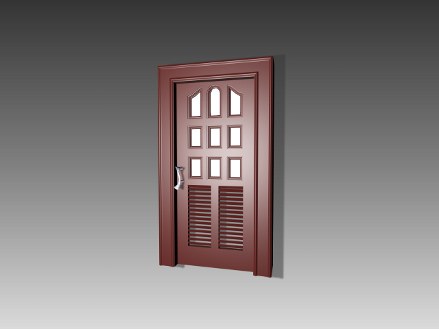 Glazed Shutter Door 3d Model 3dsmax 3ds Autocad Files Free