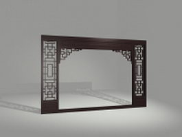 Vintage decorative partition door 3d model