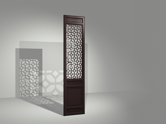 Fixed Room Divider Panel 3d Model 3dsmax Files Free