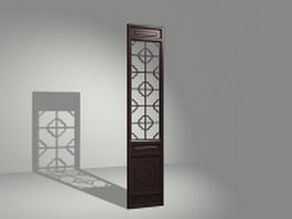 Decoration panel room divider 3d model