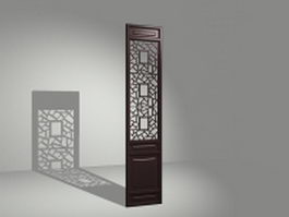 Latticework room divider panel 3d model